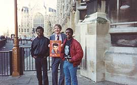 Austin Mitchell MP and the boys