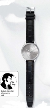 Engraved face watch