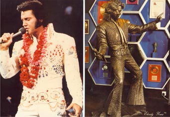 Large Elvis postcards