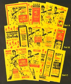 Elvis collectors posters